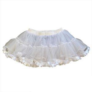 "White ""Leg Avenue"" Sheer Layered Ruffle Mini Tutu Skirt"